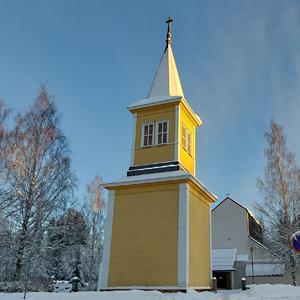 Kirkko ja kellotapuli